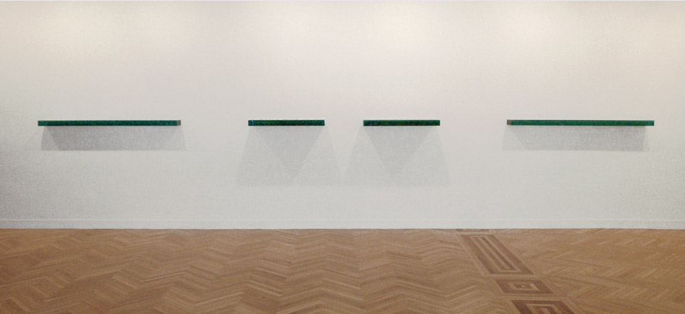 Serie Latitudes, nº 11,12 ,13 y 14 (cristal horizontal), 2006.
