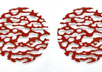 Serie Aluminio lacado nº1 y nº2 (granate), 2010